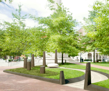 Artist rendering of memorial site